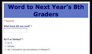 Word to Next Year's 8th Graders